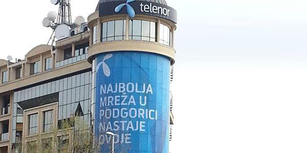 Novo iz naše štamparije – Telenor fasadna grafika